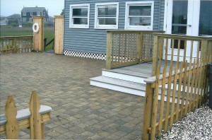 Oyster Bar patio & fence