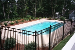 Pool & Cast Iron fence